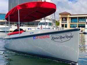 electric small boat / pod drive / fiberglass / classic