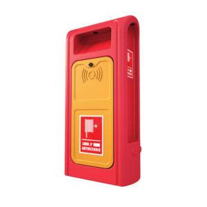 fire pedestal / for docks / with hose reel