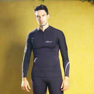 long-sleeve neoprene top