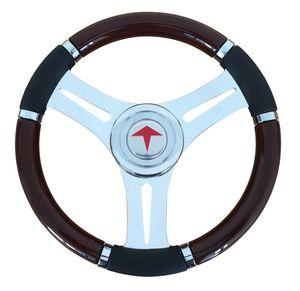 polyurethane-coated power boat steering wheel