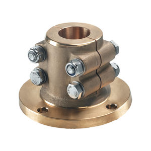 flange mechanical coupling / for boats / for shafts / clamp