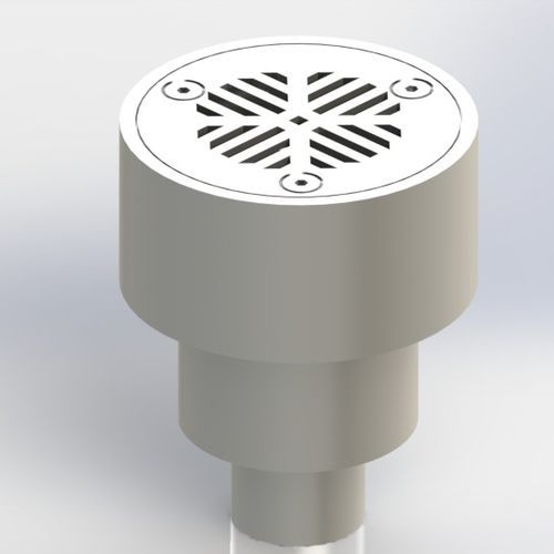metal floor drain / for boats / for yachts / round