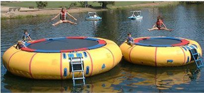 trampoline water toy