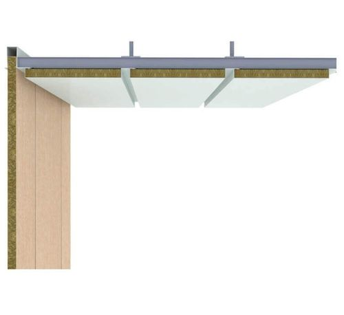 ship fitting sandwich panel / for ship ceilings / aluminum / steel