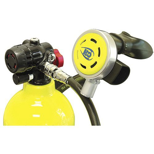 first and second stage scuba regulator