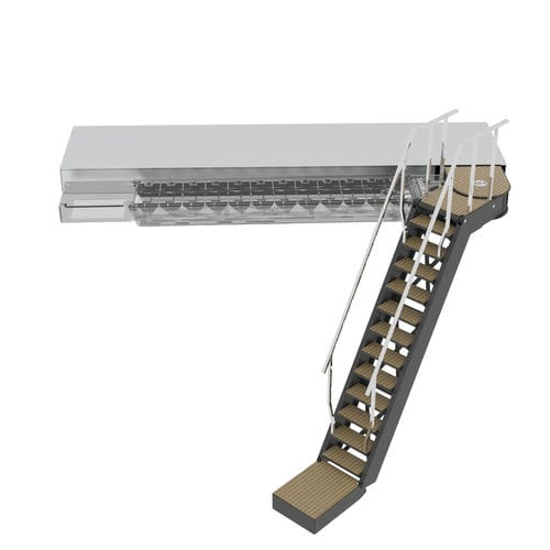 boat ladder / for yachts / retractable / folding