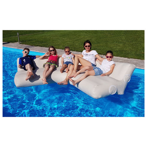 boat floating sofa / for yachts / with backrest / modular
