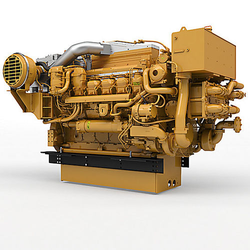 professional vessel engine / auxiliary / diesel / turbocharged