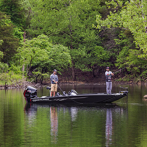 outboard bass boat / side console / sport-fishing / aluminum