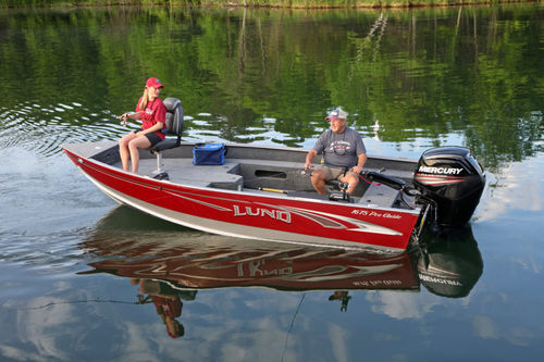 outboard small boat / sport-fishing / aluminum / 6-person max.
