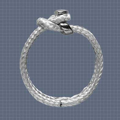soft shackle for sailboats / stainless steel / Dyneema®