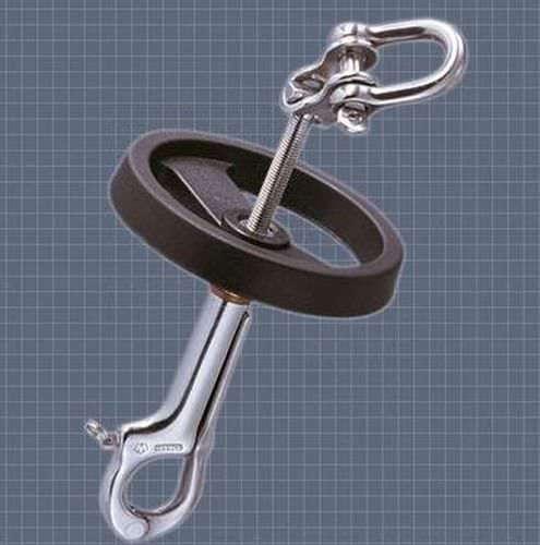 adjuster turnbuckle / with hand wheel / fork / articulated toggle