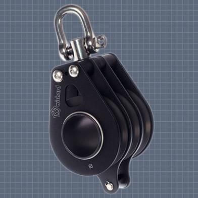 roller bearing block / triple / with swivel / with becket