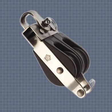 ball bearing block / double / with becket / with fixed head