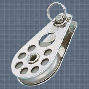 plain bearing block / single / with fixed head / max. wire rope ø 7 mm