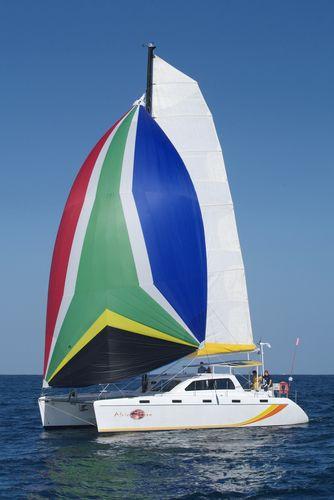 sailing catamaran / cruising / open transom