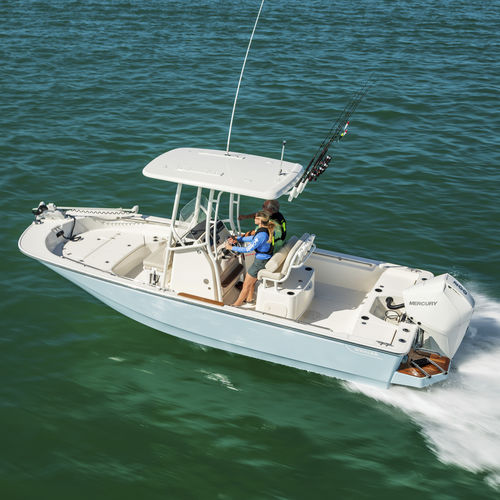 outboard center console boat / center console / for fishing / 9-person max.