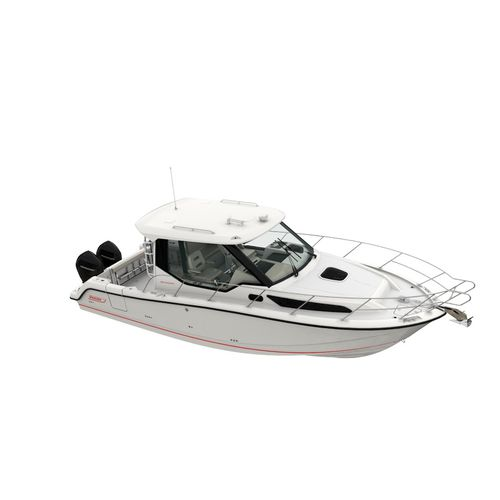 outboard express cruiser / twin-engine / wheelhouse / sport-fishing