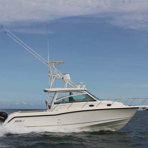 outboard walkaround / triple-engine / flybridge / sport-fishing