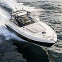 inboard express cruiser / twin-engine / open / soft-top
