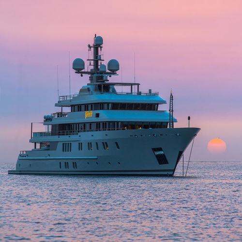 cruising luxury mega-yacht