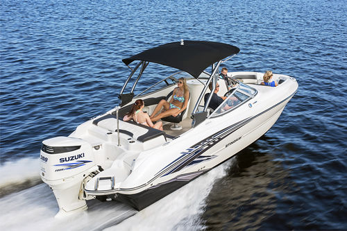outboard deck boat / dual-console / wakeboard / ski