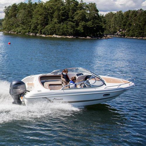 outboard day cruiser / open / 7-person max. / twin-berth