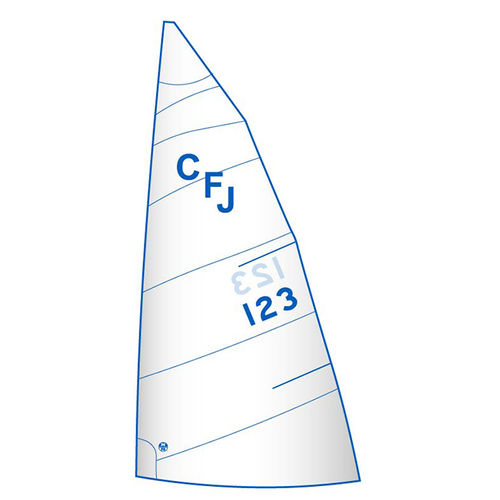 mainsail / for one-design sport keelboats / for racing sailboats / cross-cut