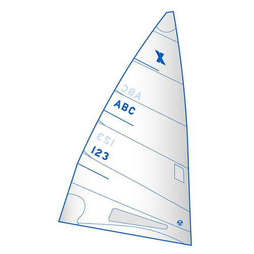 mainsail / for racing sailboats / cross-cut