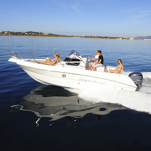 outboard walkaround / center console / 9-person max. / with cabin