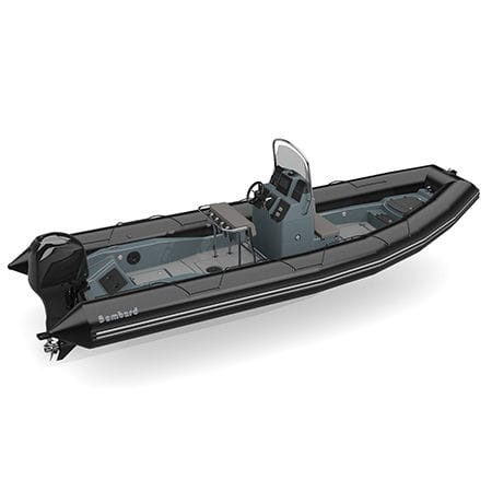 outboard inflatable boat / rigid / center console / for fishing