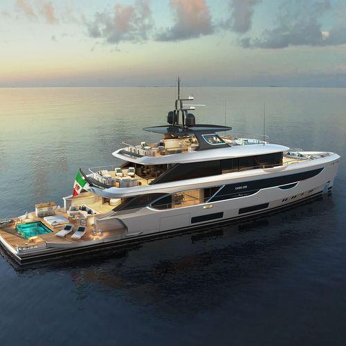 cruising super-yacht / wheelhouse / 5-cabin
