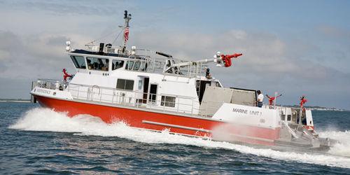 fireboat / inboard waterjet / aluminum