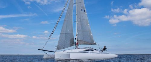 trimaran / cruising-racing / open transom / 1-cabin