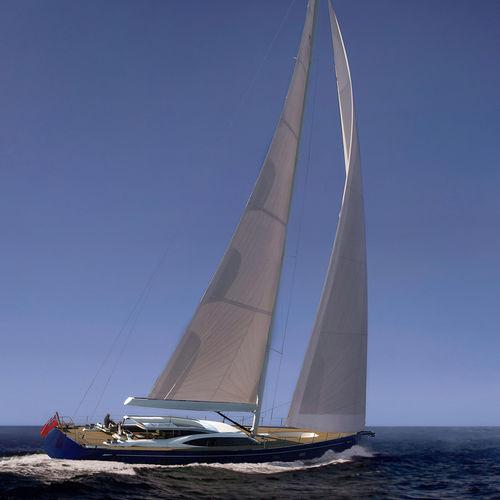 cruising sailing super-yacht / deck saloon / 6-cabin / sloop