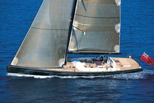 cruiser-racer sailing super-yacht / open transom / carbon / sloop