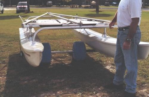 launching trolley / for sport multihulls