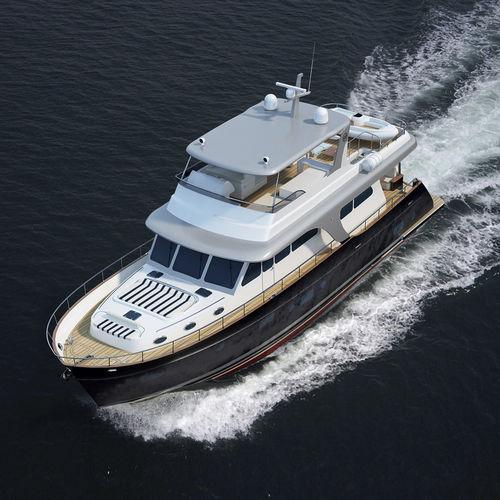 cruising motor yacht / flybridge / epoxy / 3-cabin