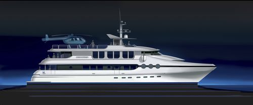 catamaran super-yacht / cruising / wheelhouse / displacement hull