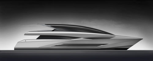 high-speed super-yacht / hard-top / displacement / 5-cabin