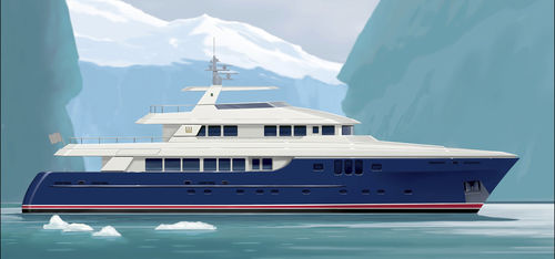 expedition super-yacht / explorer / wheelhouse / displacement hull