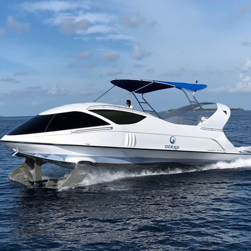 sightseeing boat / glass-bottom boat / excursion boat / inboard