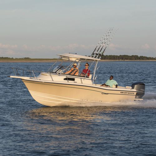 outboard walkaround / dual-console / sport-fishing / 10-person max.