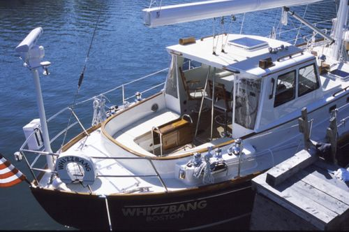 motorsailer sailing yacht / open transom / with enclosed cockpit / 2-cabin