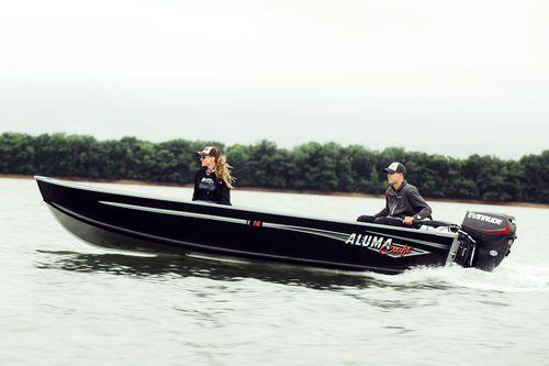 outboard small boat / sport-fishing / aluminum / 5-person max.