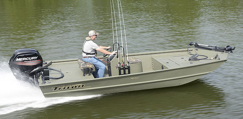 outboard jon boat / center console / sport-fishing / aluminum