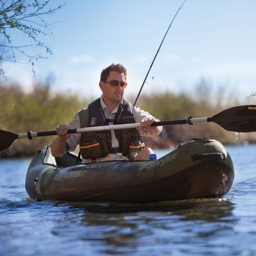 fishing canoe / long-distance touring / inflatable / solo