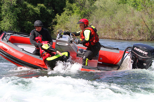 rescue boat professional boat / outboard / aluminum / rigid hull inflatable boat