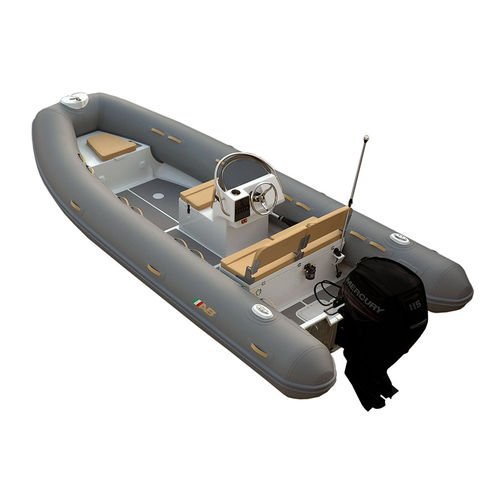 outboard inflatable boat / RIB / side console / aluminum
