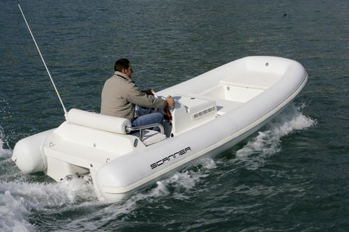 hydro-jet inflatable boat / diesel / rigid / center console